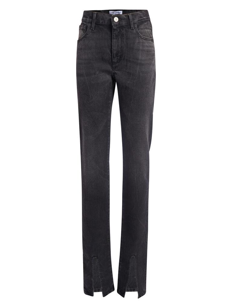 THE ATTICO Black skinny pants with slits 4