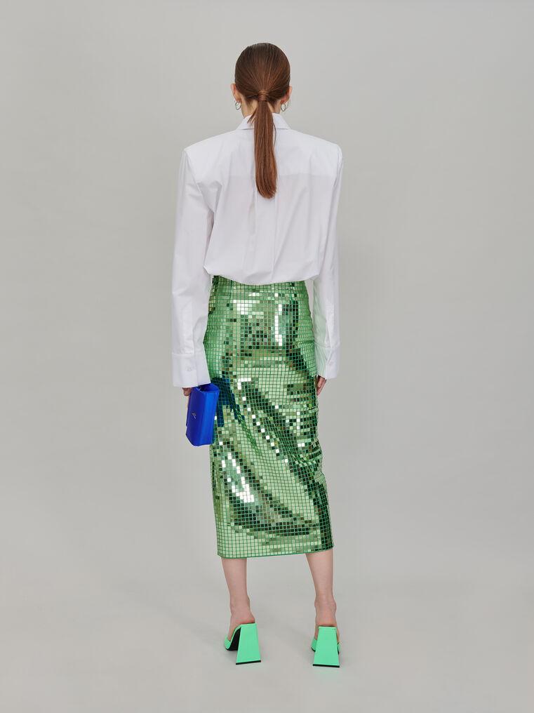 The Attico Pencil midi skirt with slit 3