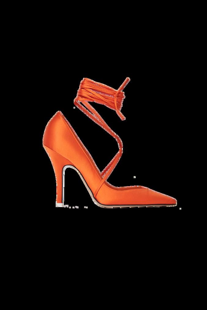 """The Attico """"Ruby"""" orange pump 4"""