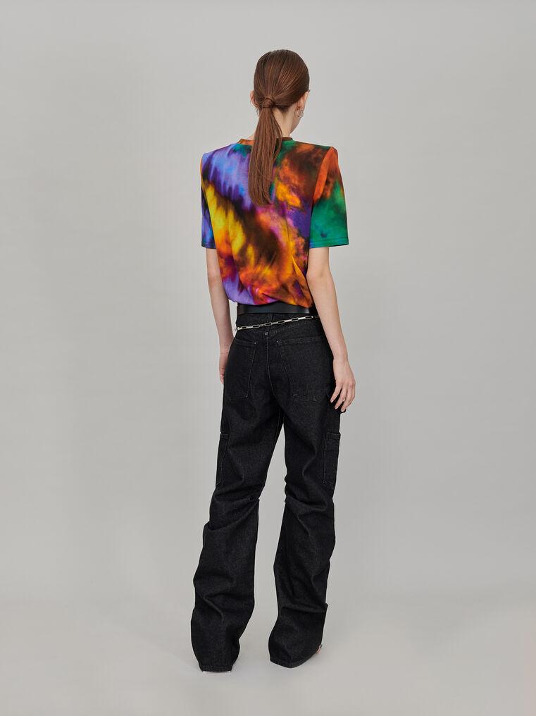 "The Attico ""Bella"" multicolor t-shirt with shoulder pads 3"