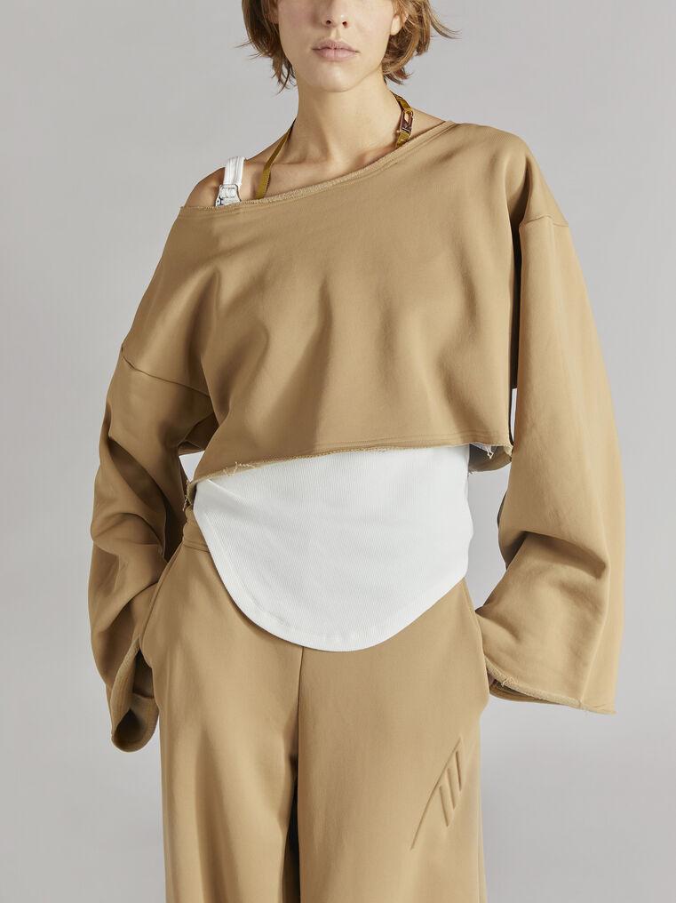 THE ATTICO Camel sweatshirt 2