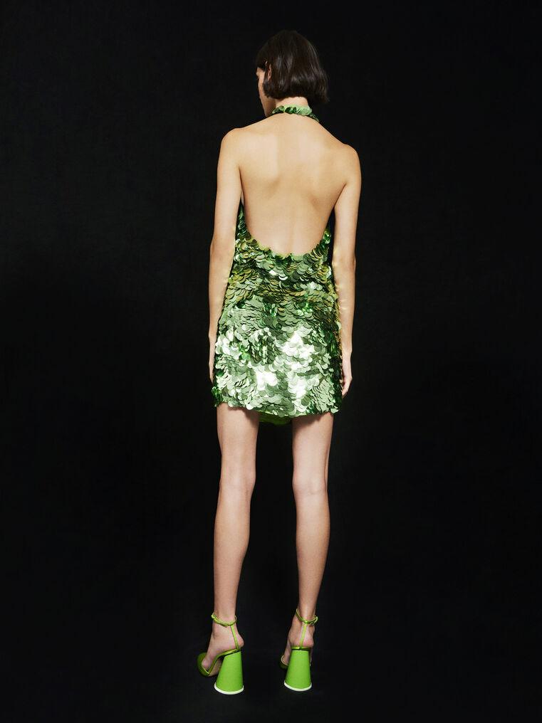 THE ATTICO ''Allium'' green mini dress 3