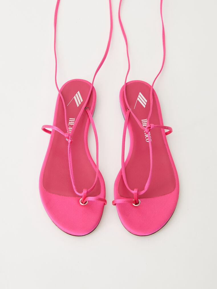 """The Attico Pink satin """"Kika"""" flat thong 2"""