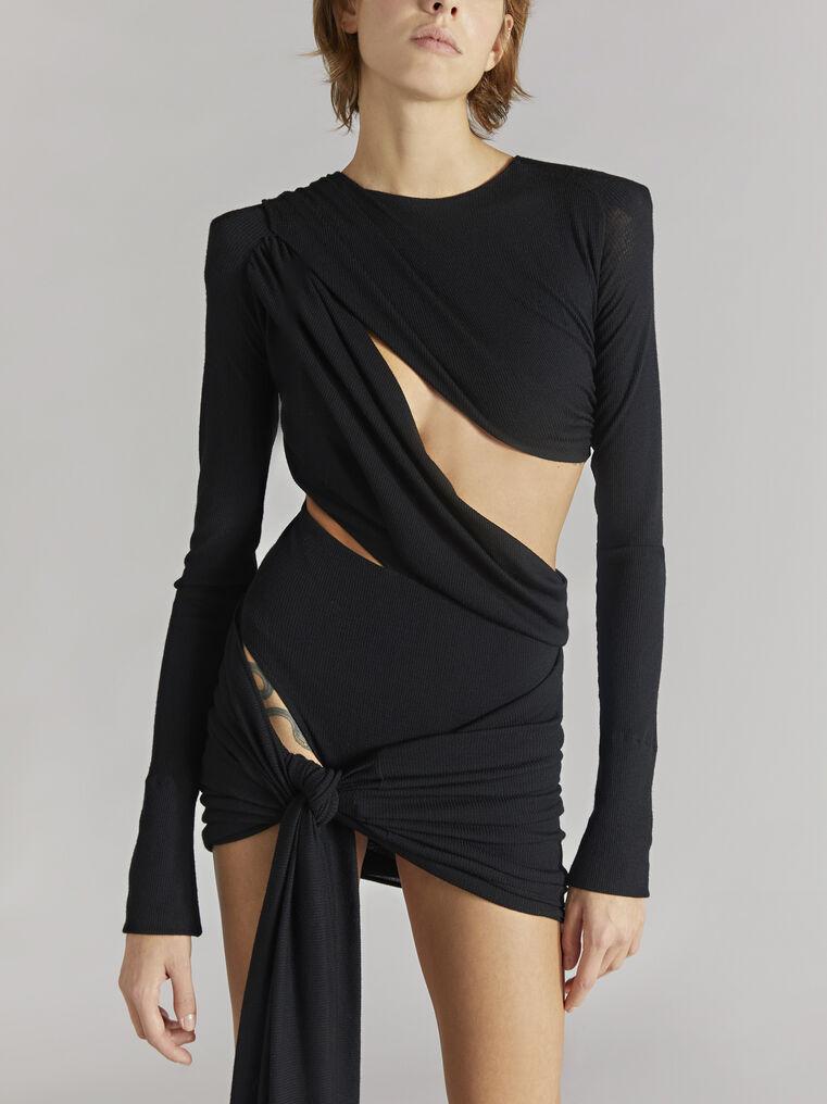 """THE ATTICO """"Brigit"""" black mini dress 2"""