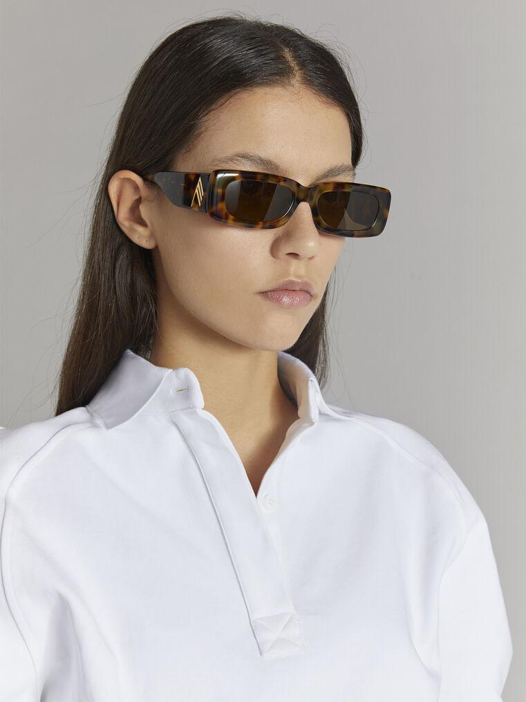 "THE ATTICO ""Mini Marfa"" tortoise effect sunglasses 2"