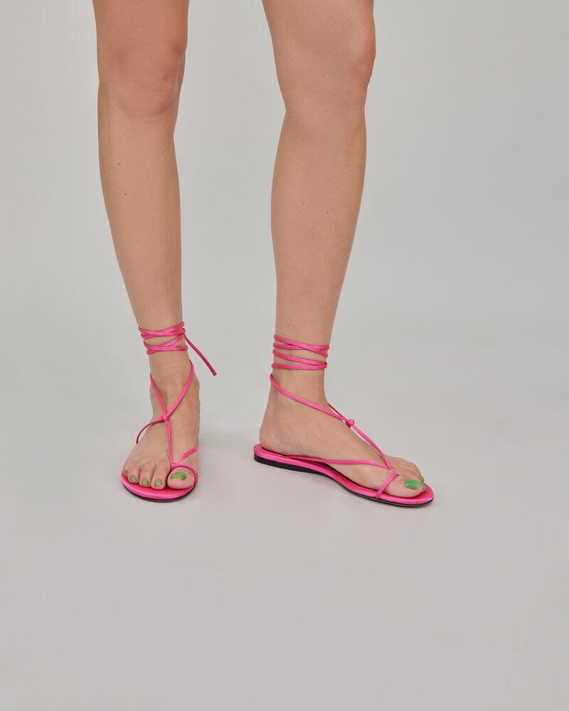 """The Attico Pink satin """"Kika"""" flat thong 1"""