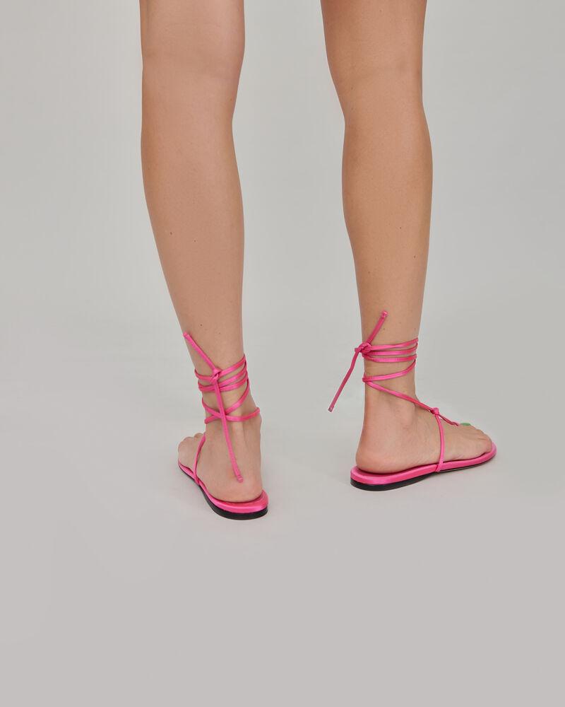 """The Attico Pink satin """"Kika"""" flat thong 3"""