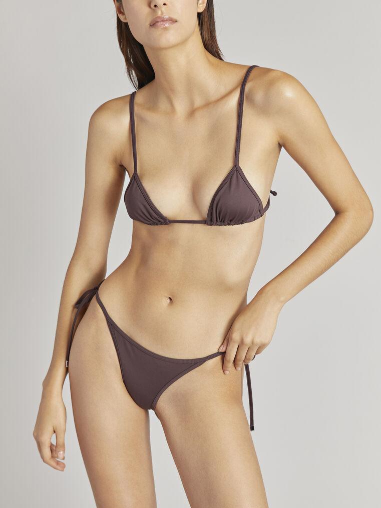 THE ATTICO Matte coffee bikini bottom 2