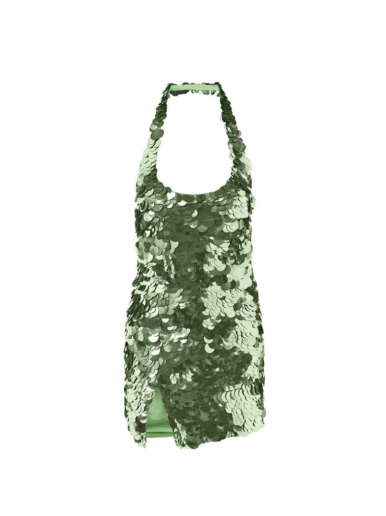 THE ATTICO ''Allium'' green mini dress 5