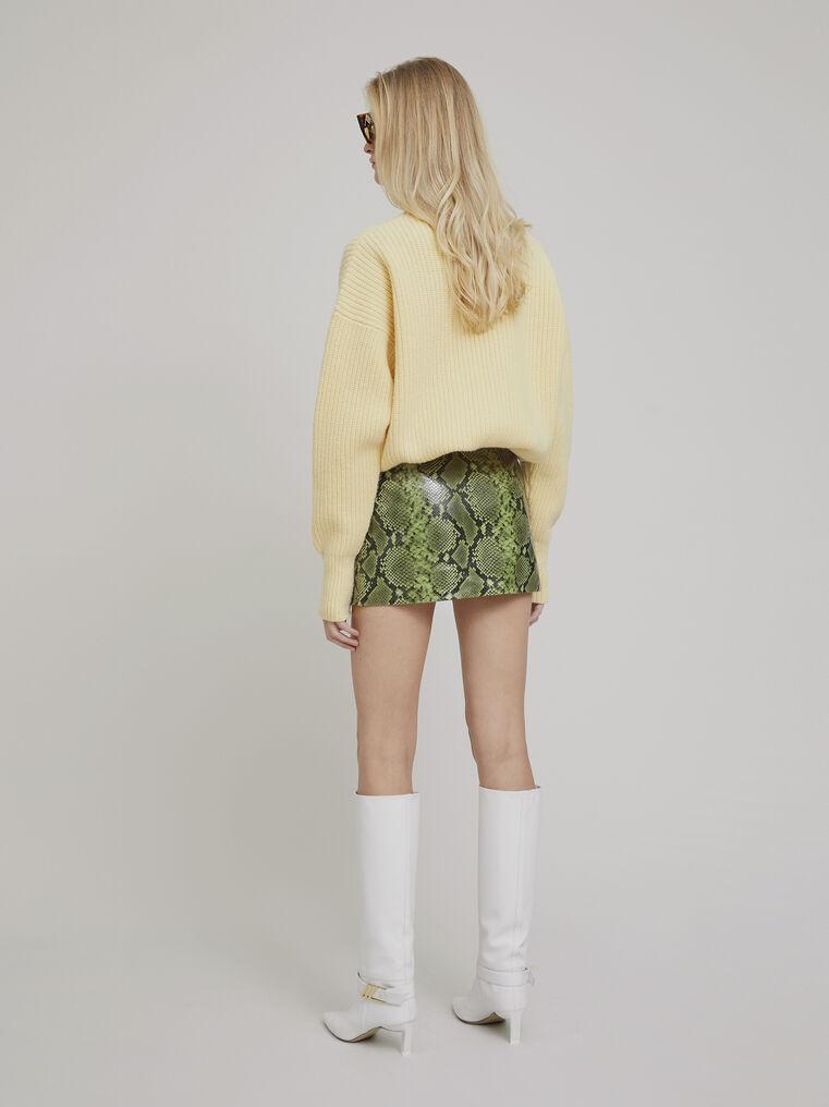 The Attico Yellow lambswool sweater 3