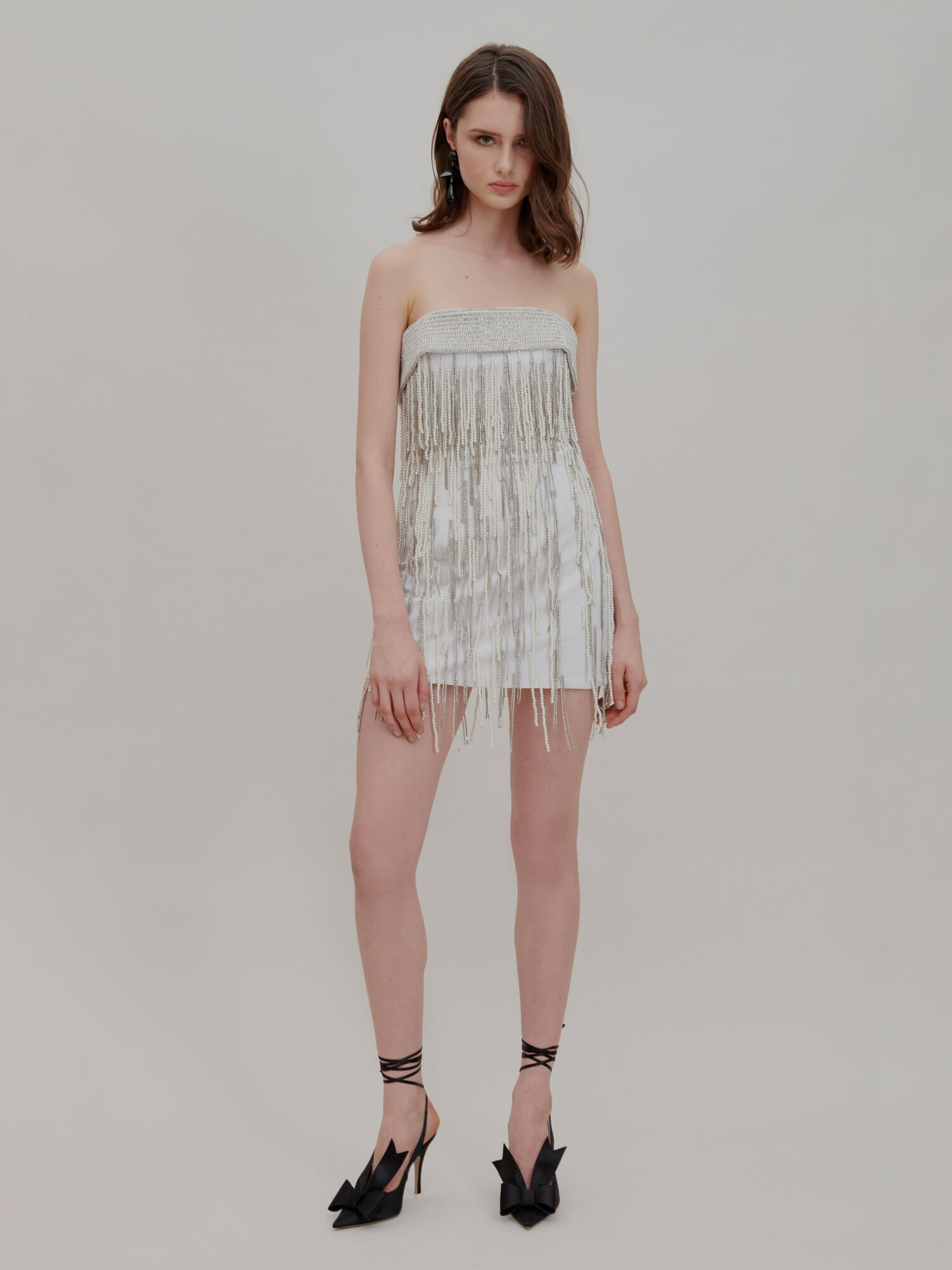 The Attico The Attico Sale Join Us Upstairs White Mini Dress