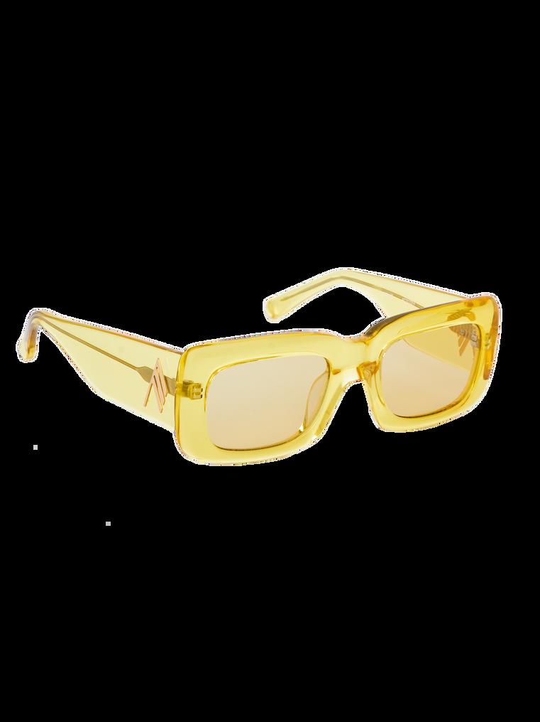 """The Attico """"Marfa"""" yellow sunglasses 2"""