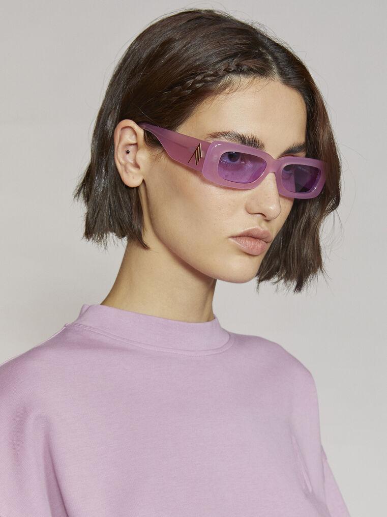 """THE ATTICO """"Mini Marfa"""" orchid sunglasses 1"""