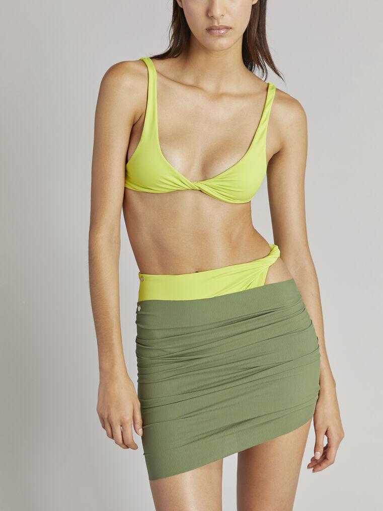 THE ATTICO Matte military green mini skirt 2