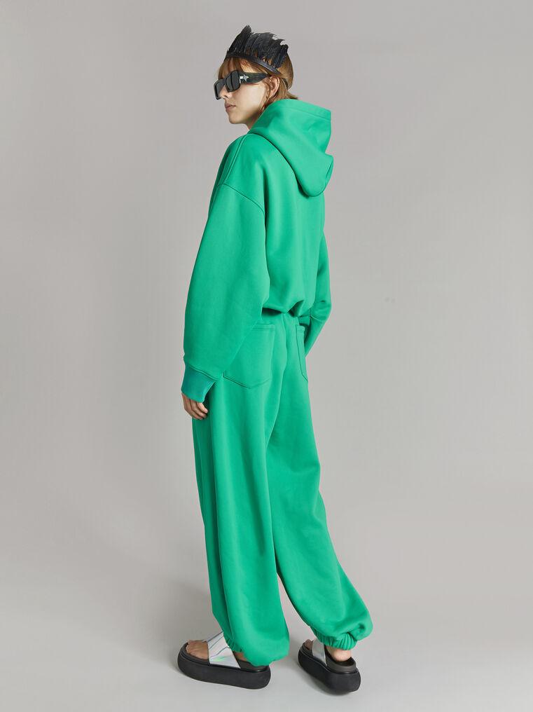 "THE ATTICO ""Maeve"" emerald sweatshirt 3"