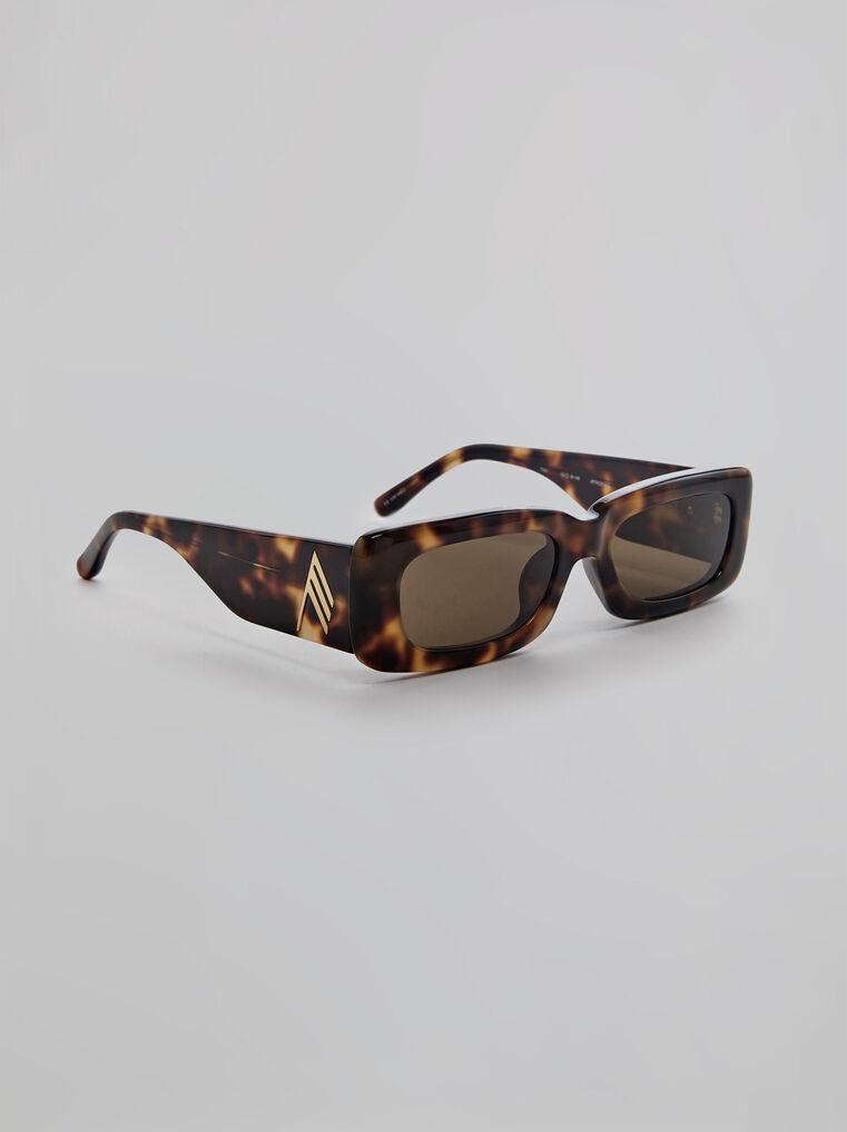 "THE ATTICO ""Mini Marfa"" tortoise effect sunglasses 1"