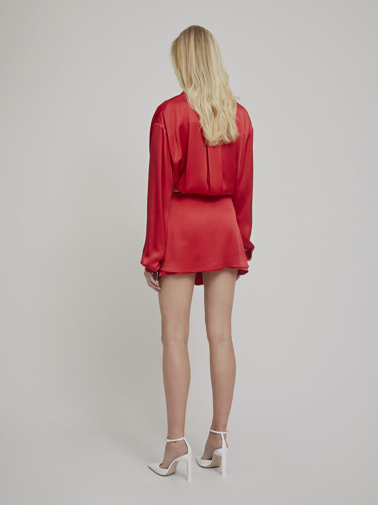 """The Attico """"Gigi"""" red chemisier mini dress 3"""