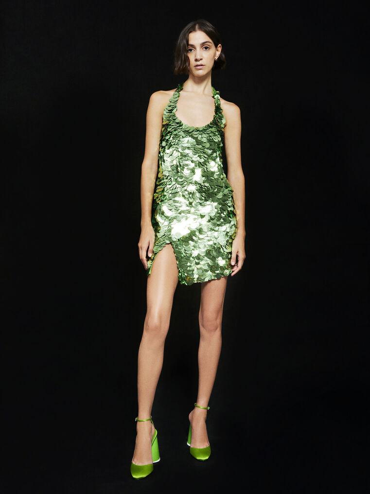 THE ATTICO ''Allium'' green mini dress 4