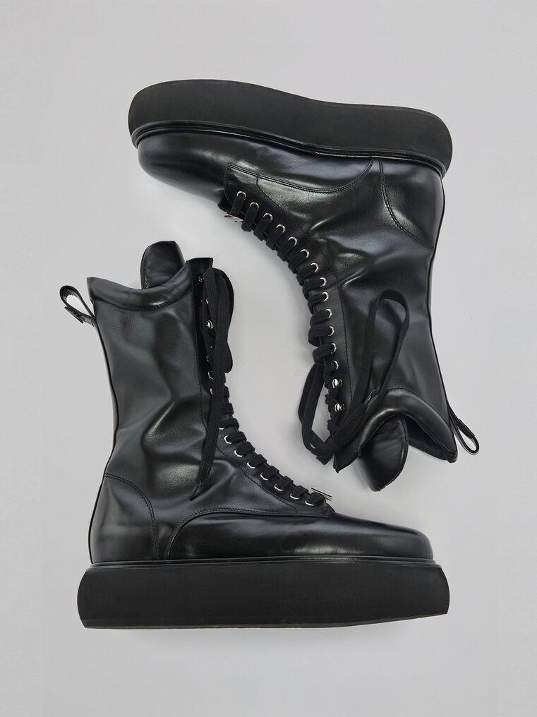 "THE ATTICO ""Selene"" black flat medium boots 2"