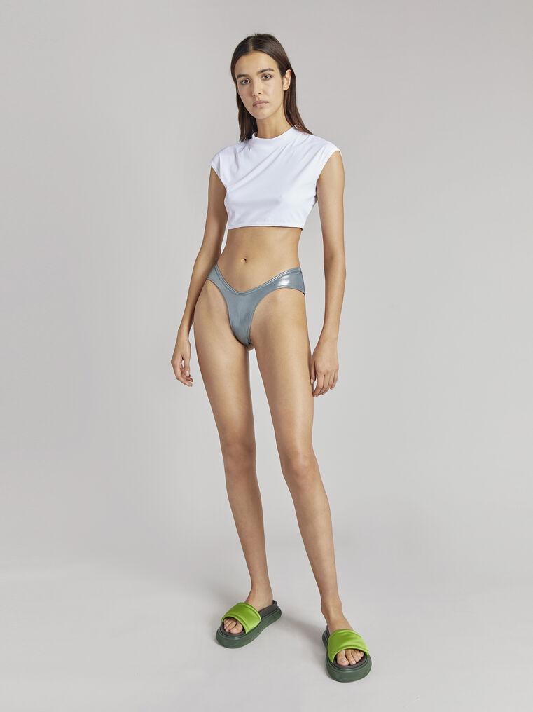 THE ATTICO Titanium metallic bikini bottom 1