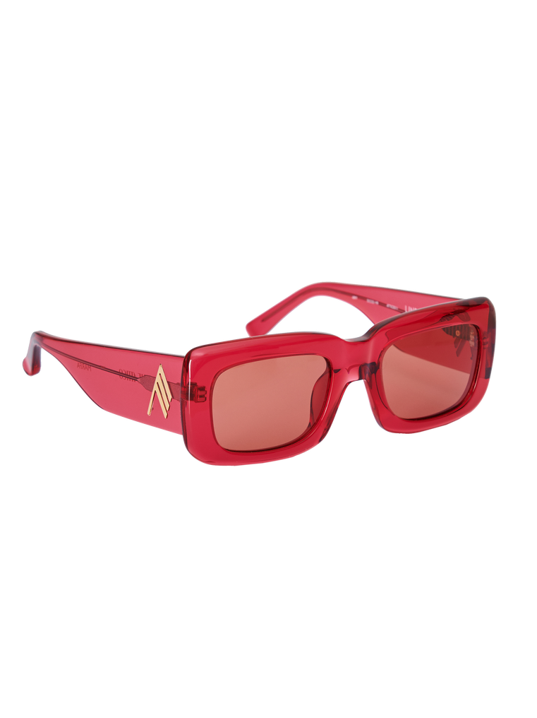 "The Attico ""Marfa"" red sunglasses 3"