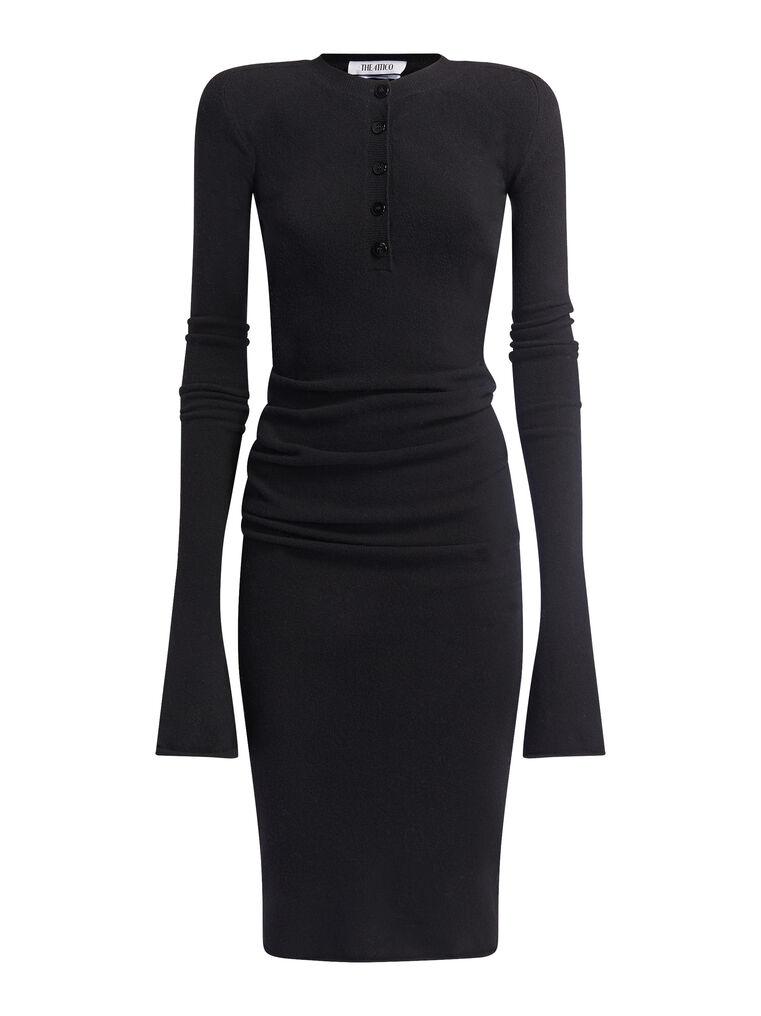 THE ATTICO Black midi dress 4