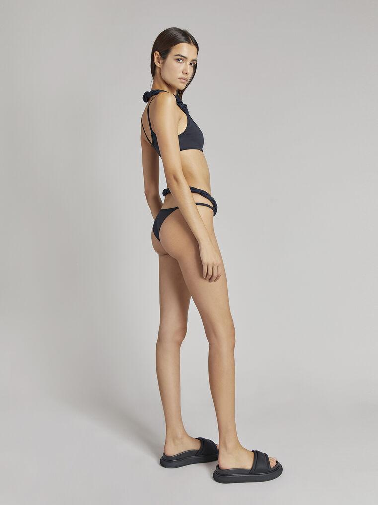 THE ATTICO Matte black bikini top 3