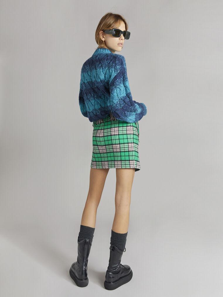 "THE ATTICO ""Kenna"" turquoise melange pullover 3"