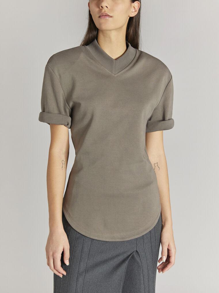 "THE ATTICO ""Abbi"" taupe t-shirt 2"
