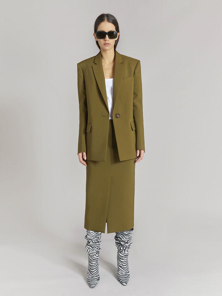 "THE ATTICO ""Bianca"" military green jacket 1"