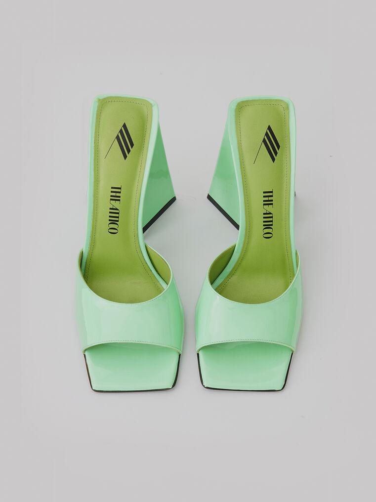 """The Attico """"Devon"""" neon green mule 2"""