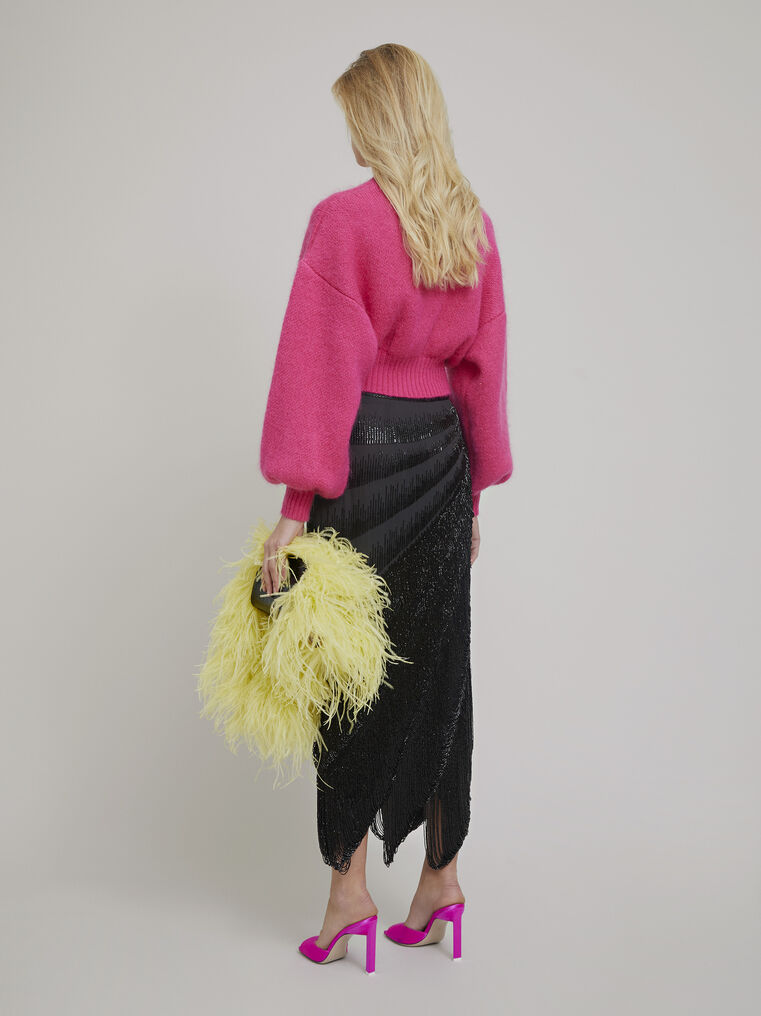 The Attico Pink mohair sweater 3