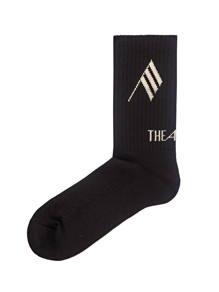 THE ATTICO Black bicolor sponge short socks 3