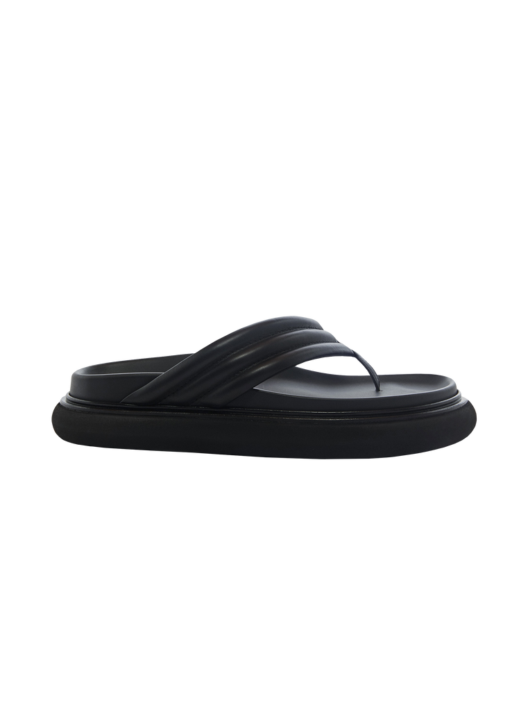 "THE ATTICO Black ""Alton"" flat thong 4"