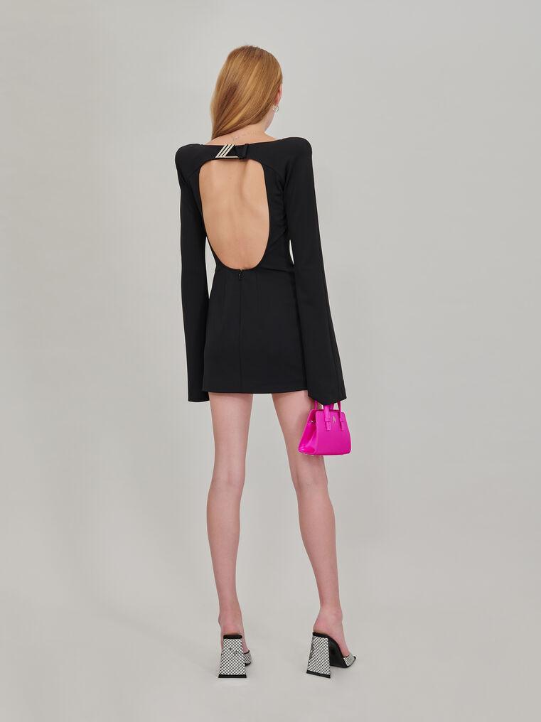 "The Attico ""Liz"" mini dress with trumpet sleeves 3"