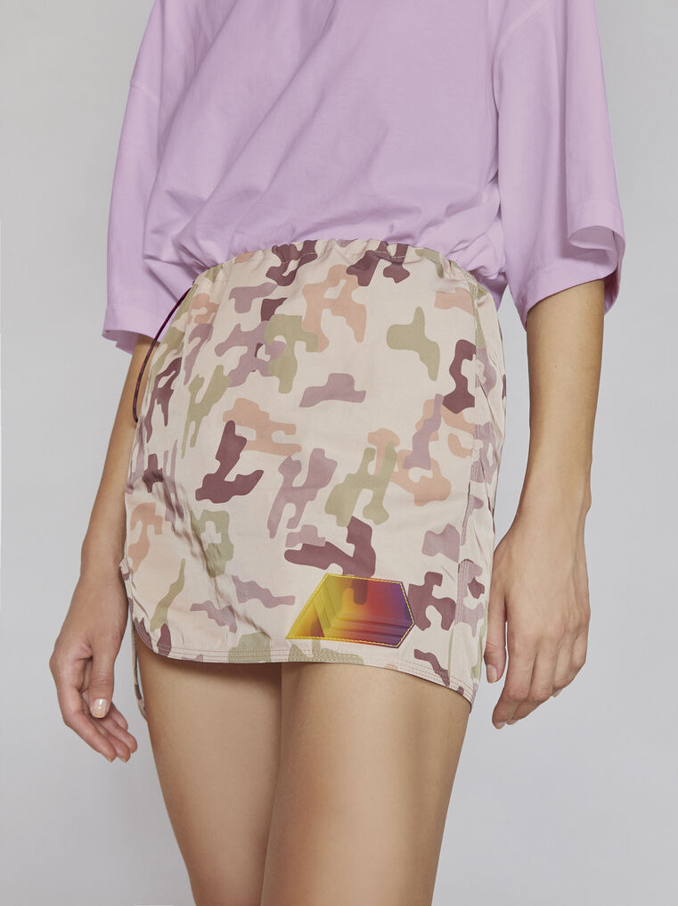 "THE ATTICO ""Giana"" sand camouflage mini skirt 2"