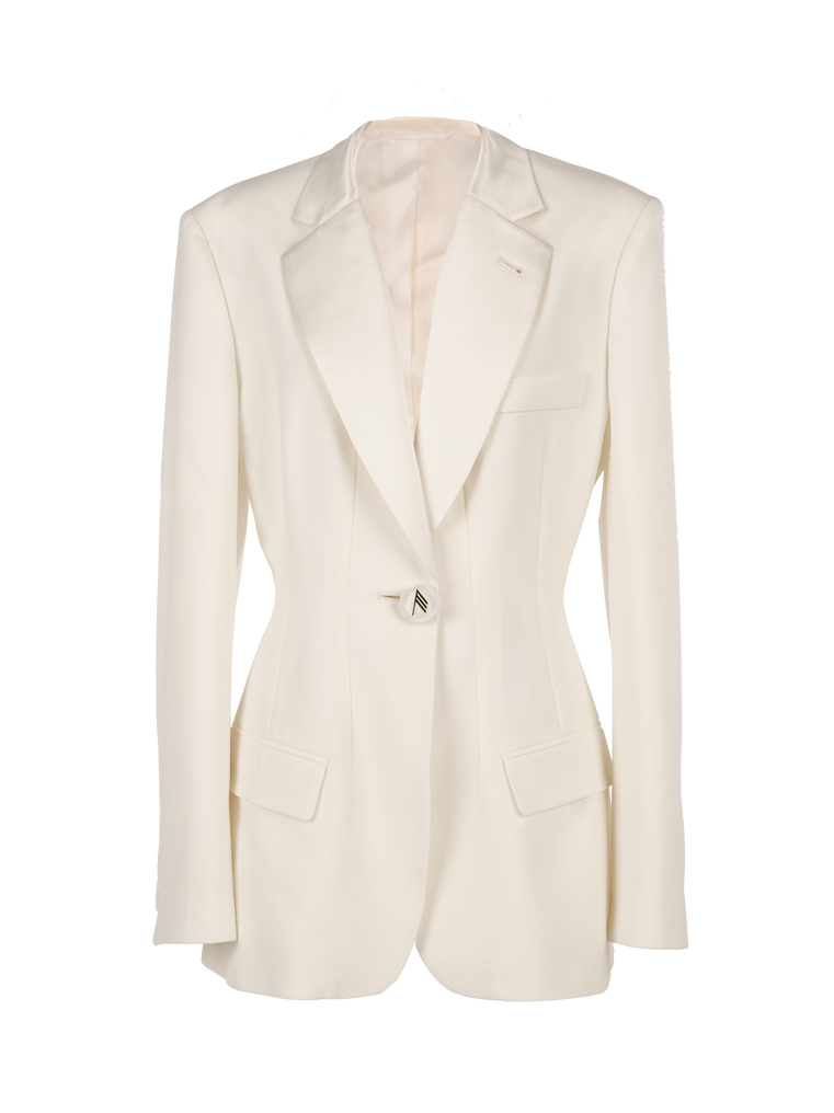 "The Attico ""Donna"" white jacket 4"