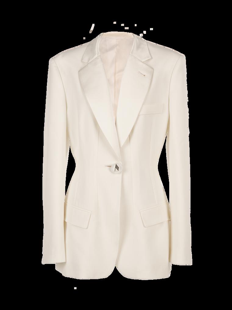 """The Attico """"Donna"""" white jacket 4"""