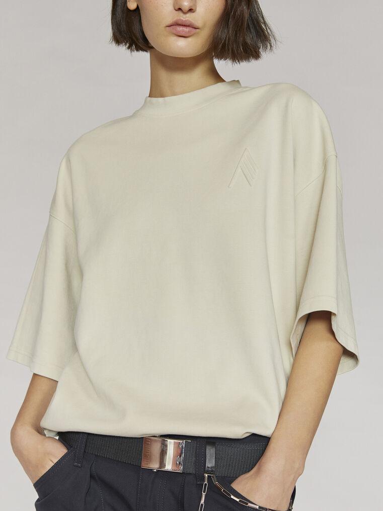 """THE ATTICO """"Cara"""" beige t-shirt 2"""