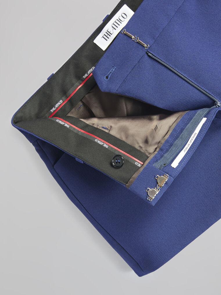 THE ATTICO Blue navy shorts 4