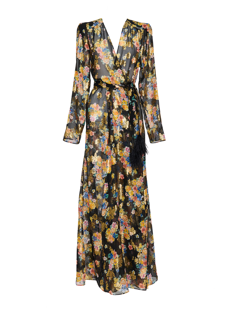 "The Attico ""Lauren"" floral prinded long dress 4"