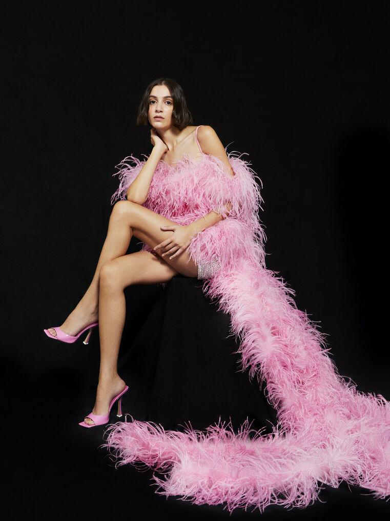 THE ATTICO ''Betul'' pink mini dress 5