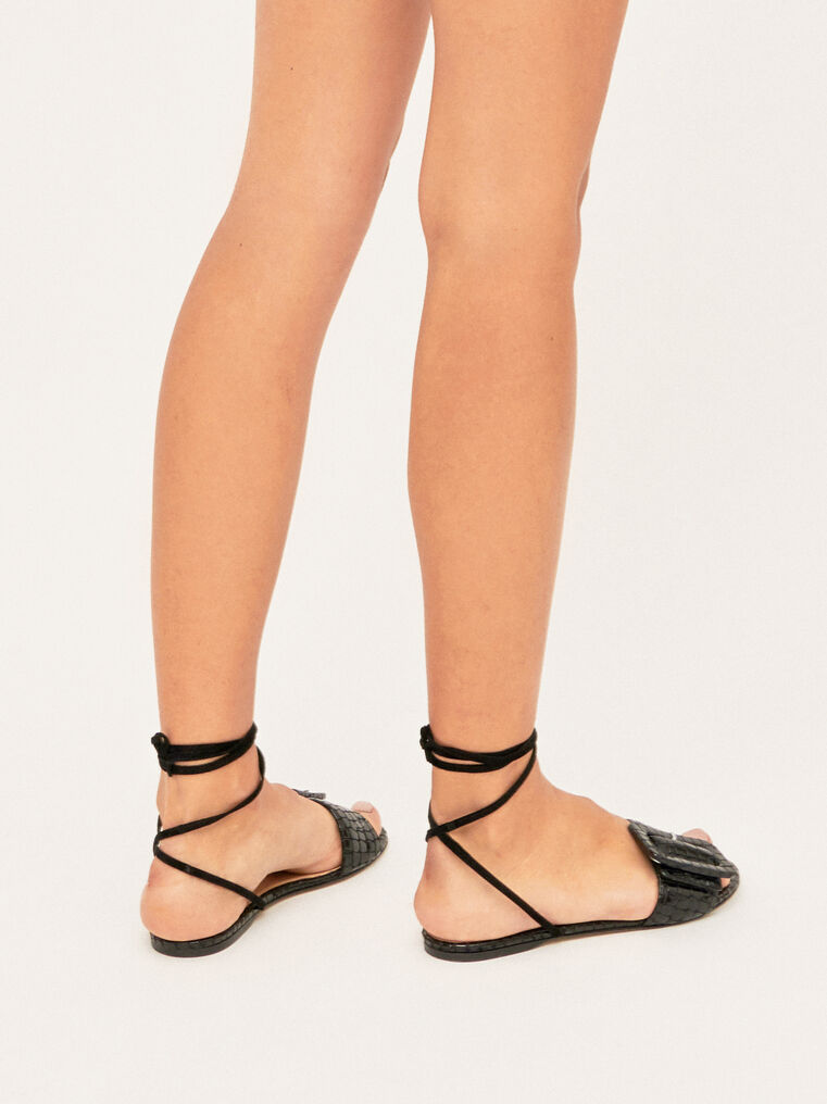 The Attico Flat Sandal With Buckle 1