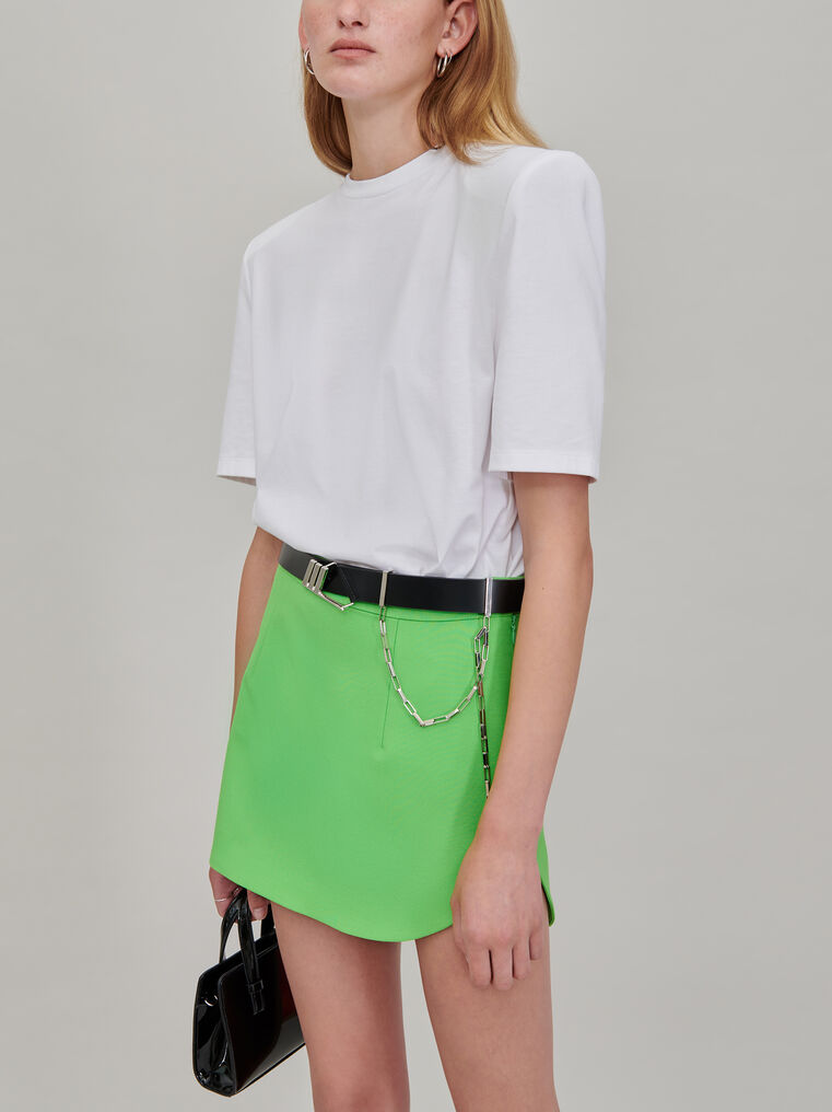 """The Attico """"Bella"""" white t-shirt with shoulder pads 2"""