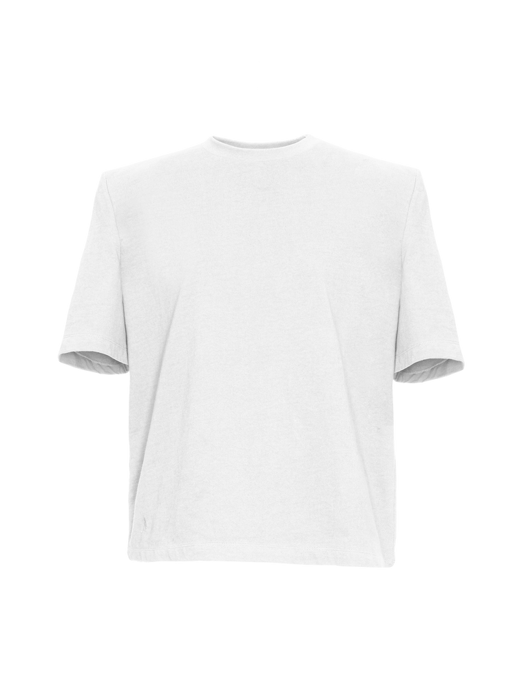 "The Attico ""Bella"" white t-shirt with shoulder pads 4"