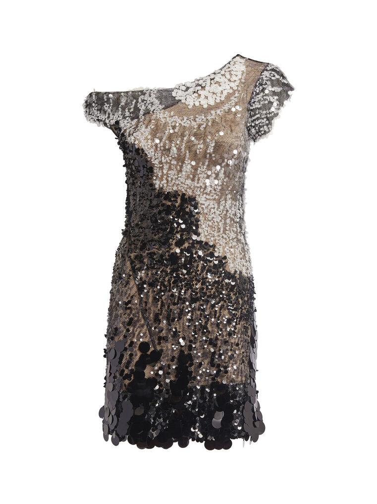 THE ATTICO Twisted iridescent black mini dress 4