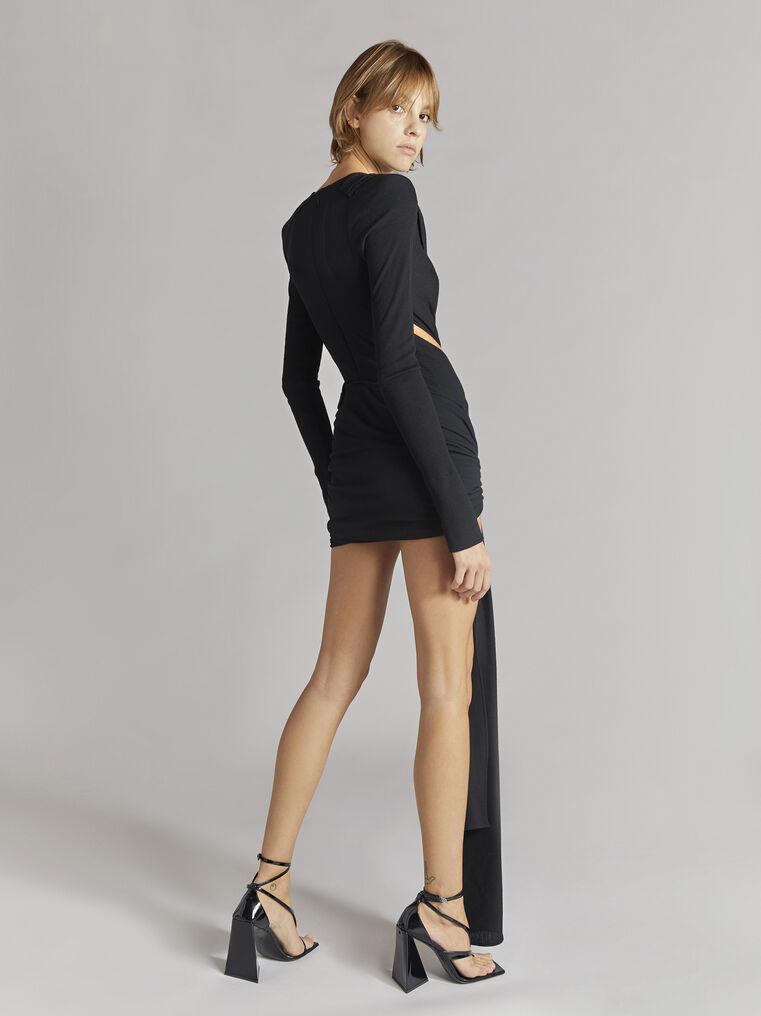 """THE ATTICO """"Brigit"""" black mini dress 3"""