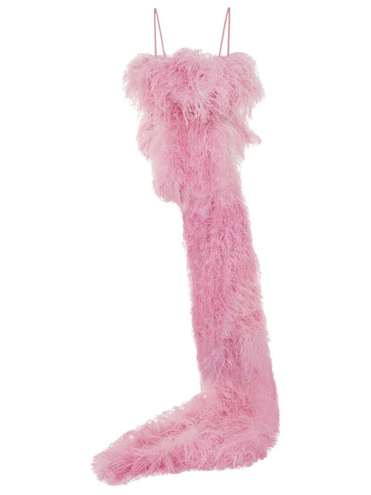 THE ATTICO ''Betul'' pink mini dress 6