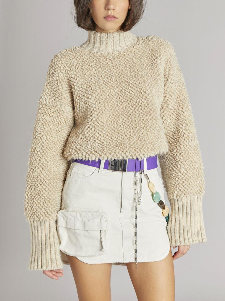 THE ATTICO Beige sweater 2