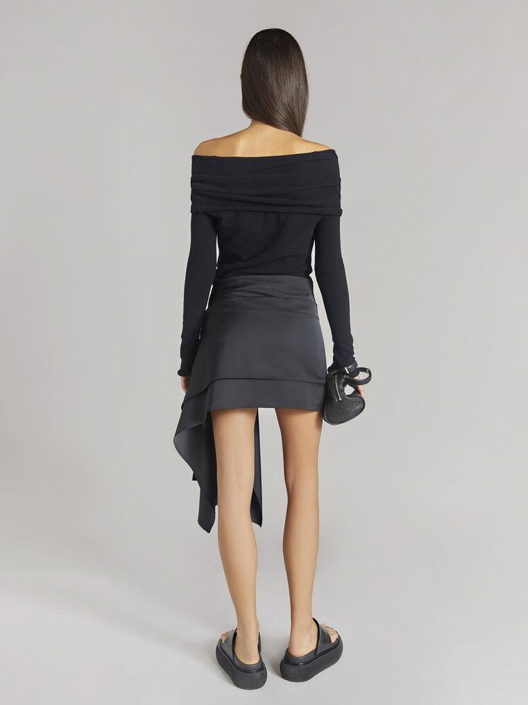 "THE ATTICO ""Robin"" black asymetrical mini skirt 3"